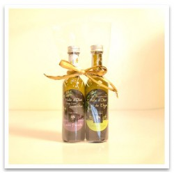 Miniatures of olive oil
